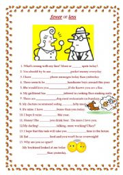 less and fewer for count and non count nouns esl worksheet by tuanti. Black Bedroom Furniture Sets. Home Design Ideas