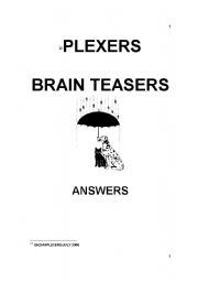 English Worksheet: PLEXERS - BRAIN TEASERS