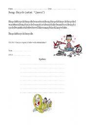 English Worksheet: Bicycle