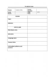 English Teaching Worksheets Lesson Plans - Lesson plan template for high school english