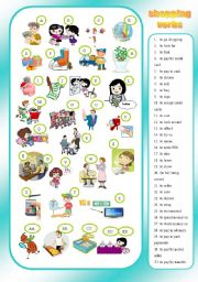 English Worksheet: SHOPPING - verbs - matching