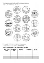 English Worksheets: the USA geography history money and states N�3