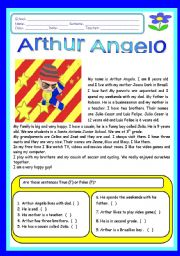 English Worksheets: Artur Angelo