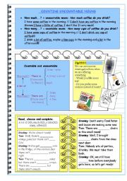 English Worksheet: Some/any - Much/many - A few/ a little [ Grammar and exercise]