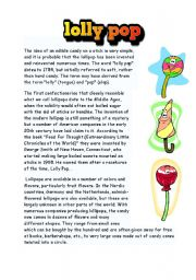 English Worksheets: lolly pop