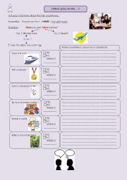 English Worksheets: Pairwork : Have you ever... ?