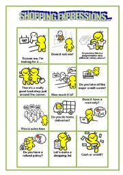 Common Shopping Expressions  2 pages