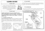 English Worksheet: California Gold Rush (Part 1)