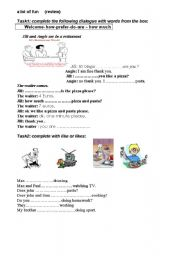 English Worksheets: like /likes - how much /how