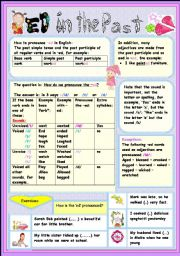 English Worksheet: PRONOUNCIATION OF THE ED