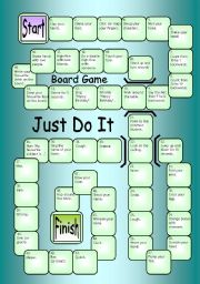 English Worksheets: Board Game - Just Do It