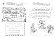 English Worksheet: SONGS FOR CHILDREN � BOOKLET � PART 3  - 5 songs