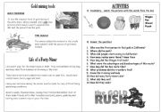 English Worksheet: California Gold Rush part 3