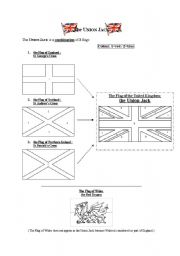 English Worksheets The Union Jack