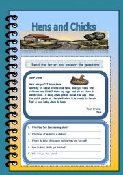 English Worksheets: Hens and chicks