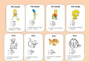 English Worksheet: General Vocabulary - Go fish 2/3