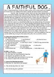 English Worksheet: Afaithful Dog