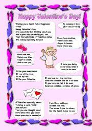 English Worksheet: Happy Valentine´s Day!