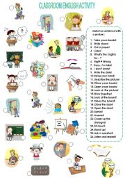English Worksheet: Classroom English activity