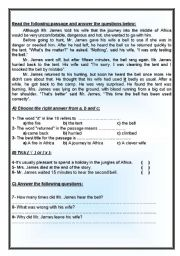 English Worksheets: 2 lovely reading comprehension with varied questions