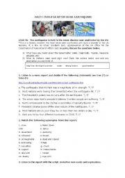 English Worksheet: NEWS REPORTS: EARTHQUAKE IN HAITI
