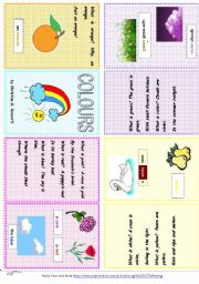 English Worksheet: Colours - A poem by Christina Rossetti - Minibook