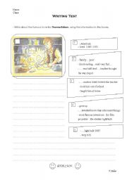 English Worksheets: Write about Thomas Edison
