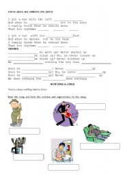 English Worksheets: SONG Alesha Dixon The boy does nothing