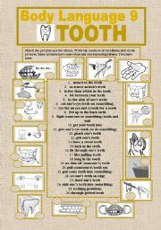 English Worksheets: BODY LANGUAGE 9