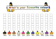 English Worksheets: Favourite colour survey