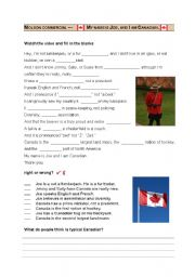 English Worksheet: patriotism and pride - Canadian Molson commercial