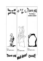 English Worksheets: Book Marks