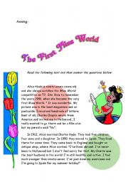 English Worksheets: miss world
