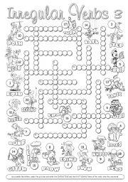 Irregular Verbs Crossword 3
