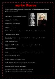 Marilyn Monroe : notes to help write a biography