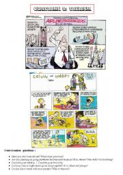 English Worksheet: HANDY THEMATIC COLLECTION of cartoons, vocabulary, conversation questions and essay topics Part 9 - TOURISM