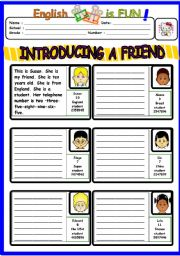 English Worksheets: INTRODUCING A FRIEND