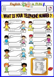 English Exercises: Whats your telephone number?