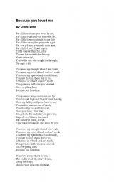 you loved me celine dion letra traducida: