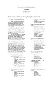 English Worksheets: English Remdial