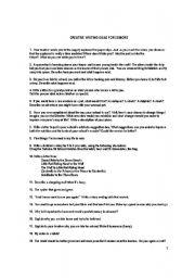 English Worksheets: Creative Writing for Seniors