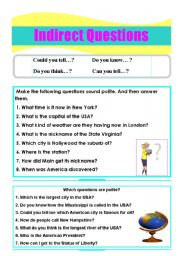 English Worksheets: Indirect (polite) questions