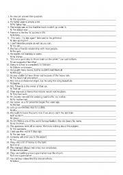 English Worksheets: SENTENCE TRANSFORMATIONS (MIXED)