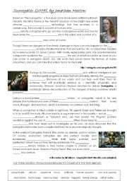 English Worksheets: Surrogates (2009) - The Film