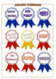 English Worksheet: award ribbons