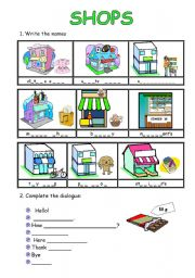 shopping worksheet pdf