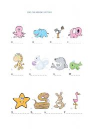 English Worksheets: Fill in the missing letters