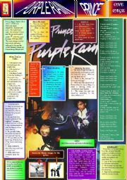 PURPLE RAIN - PRINCE - ONE PAGE