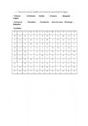 English Worksheets: soup of letters
