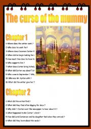 English Worksheet: THE CURSE OF THE MUMMY
